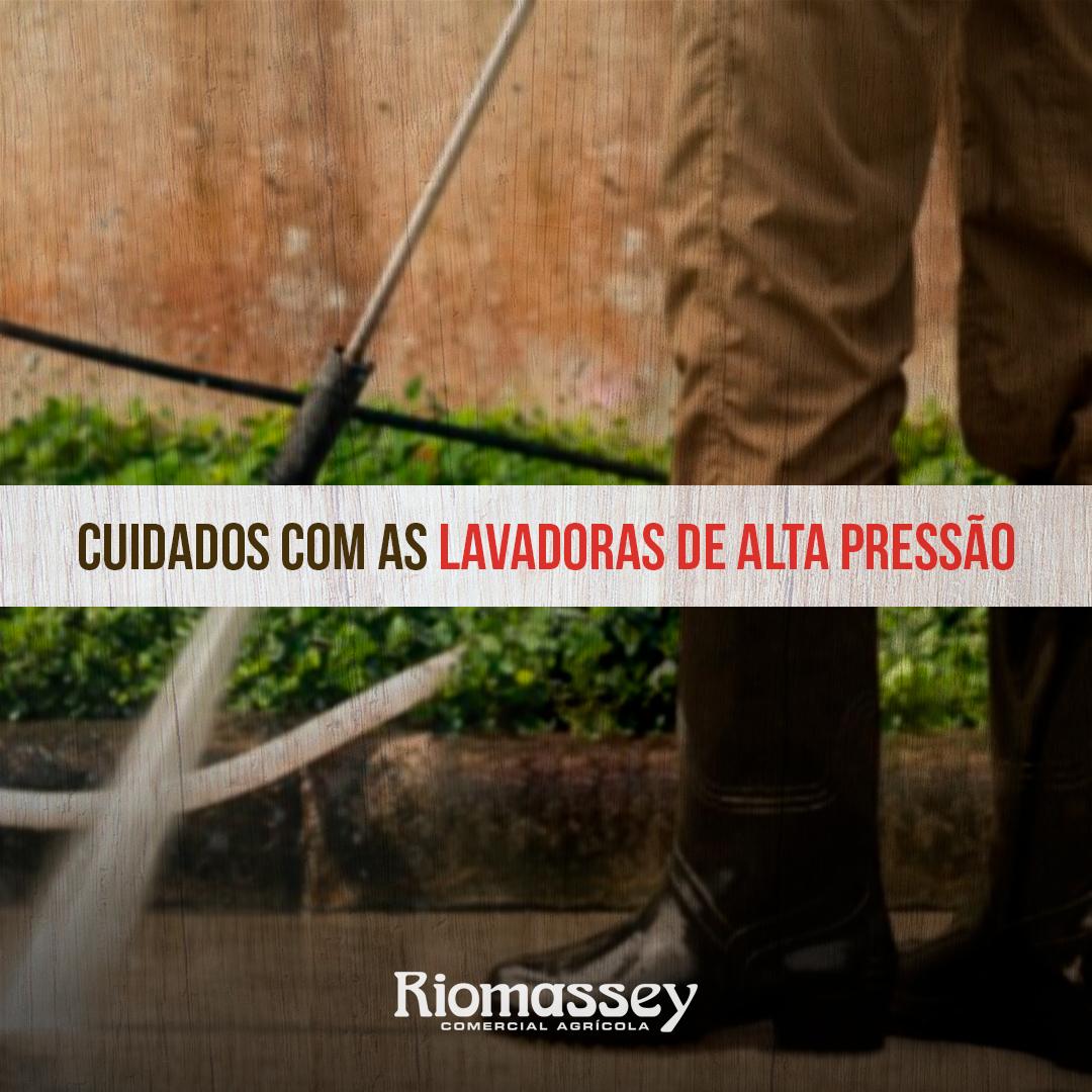 RIOMASSEY - Lavadoras de alta pressão - cuidados