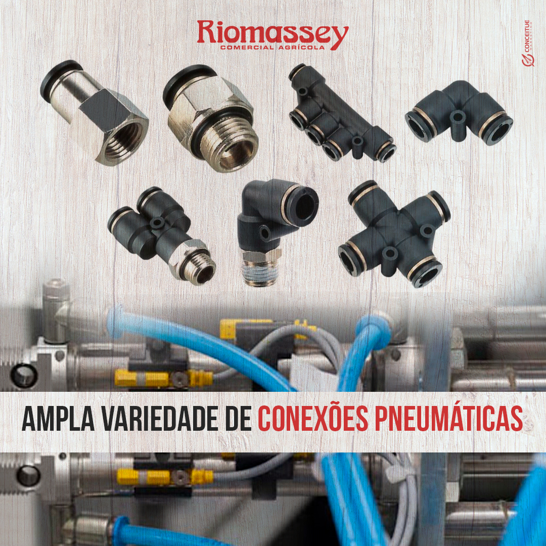RIOMASSEY - Variedades de conecções pneumaticas